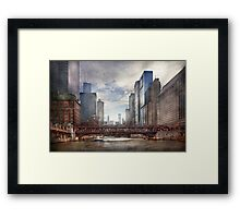 City - Chicago, IL - Looking toward the future  Framed Print