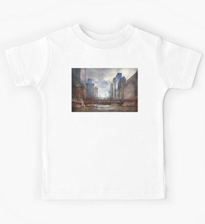 City - Chicago, IL - Looking toward the future  Kids Tee
