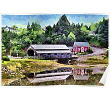 Covered Bridge - painted Poster