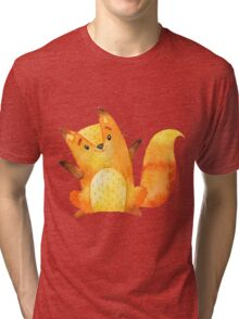 Cute little fox says hello and welcome Tri-blend T-Shirt