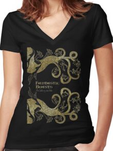 fantastic beasts Women's Fitted V-Neck T-Shirt