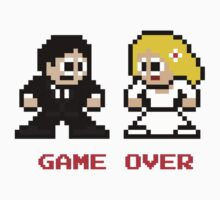 8-bit Bride and Groom-Gave Over One Piece - Short Sleeve