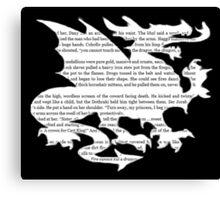 Daenerys Targaryen Dragon  Canvas Print
