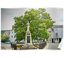 War Memorial and Catalpa Tree - St James Square - Monmouth 3 Poster