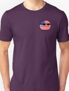 Polandball - USA Small Unisex T-Shirt