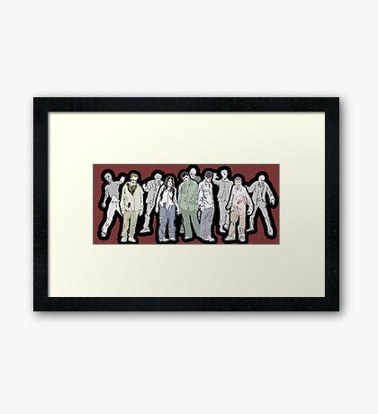 Walking Dead - Zombies Framed Print