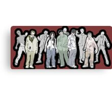 Walking Dead - Zombies Canvas Print