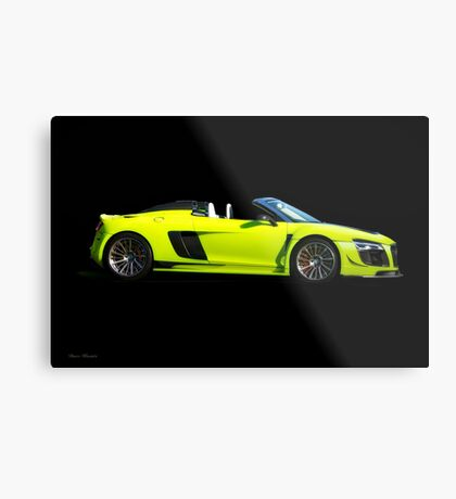 2015 Audi R8 Razor GTR 'Profile on Black' Metal Print