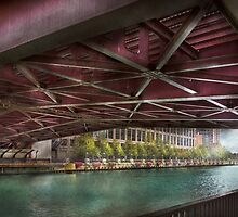 City - Chicago, IL - Underneath the William P Fahey Bridge  by Mike  Savad