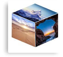 3D Landscape Cube Canvas Print