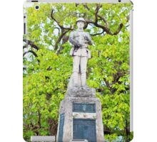 War Memorial and Catalpa Tree - St James Square - Monmouth 4 iPad Case/Skin
