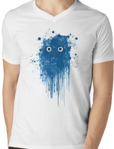 Blue Ghost Mens V-Neck T-Shirt
