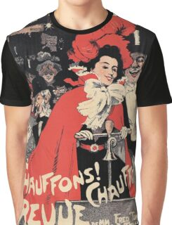 French Belle epoque musical revue ad Heat It Up Graphic T-Shirt