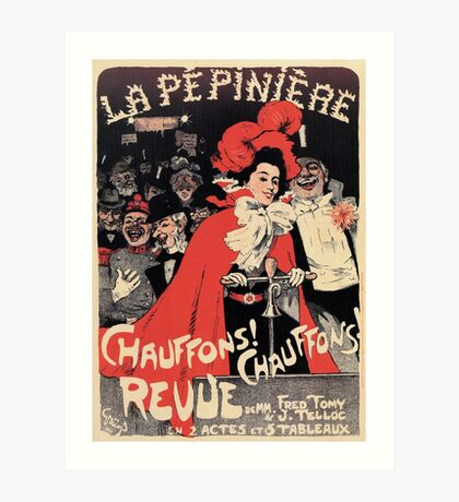 French Belle epoque musical revue ad Heat It Up Art Print