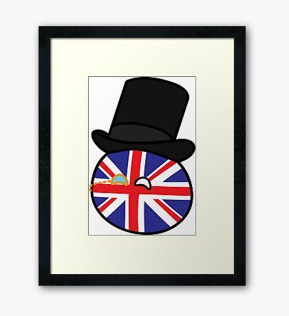 Polandball - Great Britain Small Framed Print