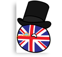 Polandball - Great Britain Small Canvas Print