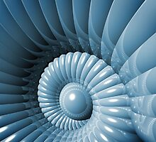 Abstract 3D Nautilus by Phil Perkins