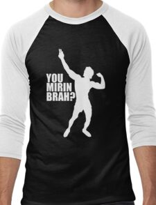 Zyzz You Mirin Brah White Men's Baseball ¾ T-Shirt