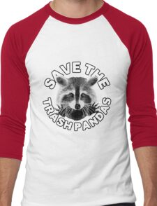 Save the Trash Pandas Raccoon Animal T-shirt Men's Baseball ¾ T-Shirt
