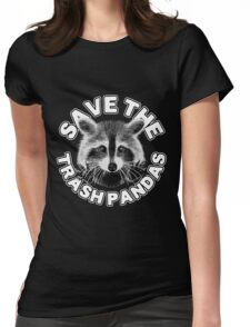 Save the Trash Pandas Raccoon Animal T-shirt Womens Fitted T-Shirt
