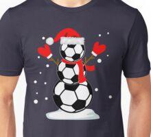 Funny Soccer Snowman Christmas  Unisex T-Shirt