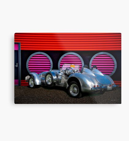 1950 Allard J2 X Special Roadster '3Q Rear View' Metal Print