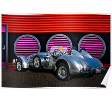 1950 Allard J2 X Special Roadster '3Q Rear View' Poster