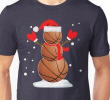 Funny Basketball Snowman Christmas  Unisex T-Shirt