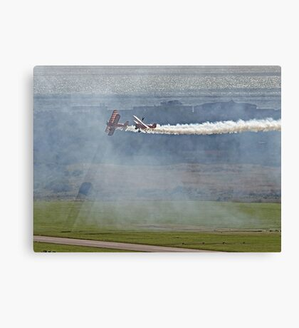 Through The Smoke - Wingwalkers - Shoreham 2014 Canvas Print