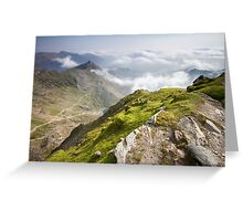 Wales - View from Snowdon Greeting Card