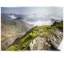 Wales - View from Snowdon Poster