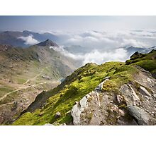Wales - View from Snowdon Photographic Print