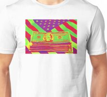 Stack of Money On American Flag Pop Art Unisex T-Shirt