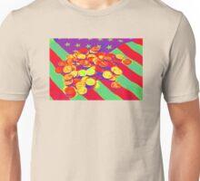 Pennies on American Flag Pop Art Unisex T-Shirt