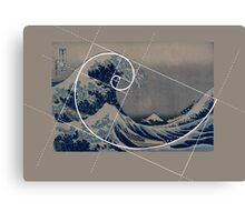 Hokusai Meets Fibonacci Canvas Print