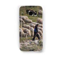 Shepherd and his sheep Samsung Galaxy Case/Skin