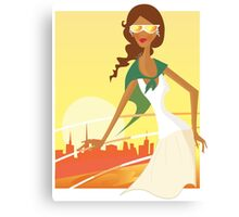New in Shop : Fashion travel woman Canvas Print
