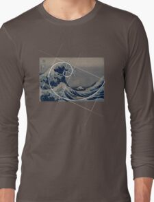 Hokusai Meets Fibonacci Long Sleeve T-Shirt
