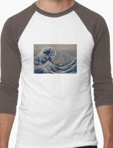 Hokusai Meets Fibonacci Men's Baseball ¾ T-Shirt