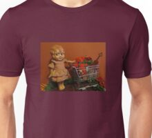 Old Doll going Christmas Shopping Unisex T-Shirt