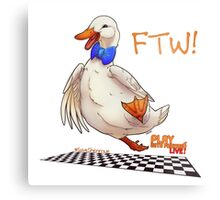 For the Win! Epic Duck Races! Metal Print