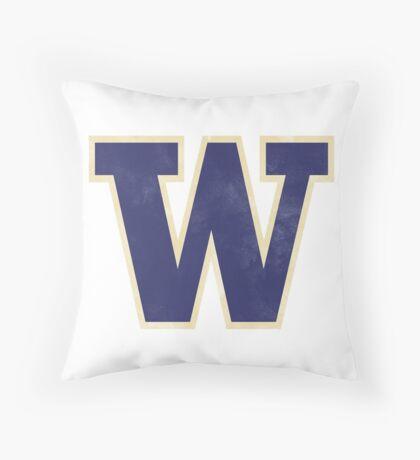 coach chris petersen washington huskies  Throw Pillow