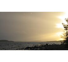 Sunset over The High Coast, Sweden Photographic Print