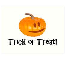 Pumpkin Trick or Treat Art Print