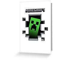 Minecraft Creeper Greeting Card