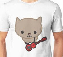 Kawaii Bassist Cat Unisex T-Shirt