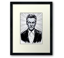 The Twelfth Doctor : Peter Capaldi is Doctor Who Framed Print