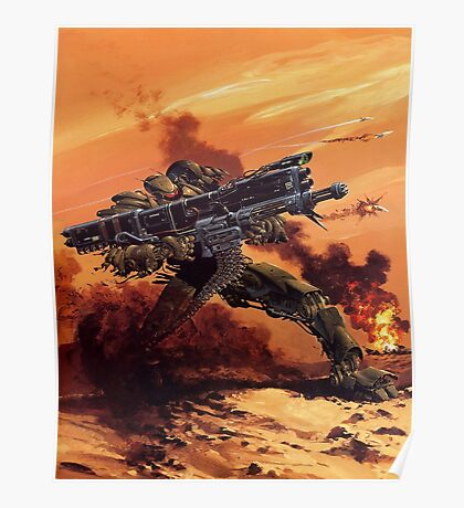 Giant War Assault Gunmech Poster