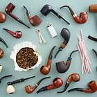 Collection of pipes by Elisabeth Coelfen