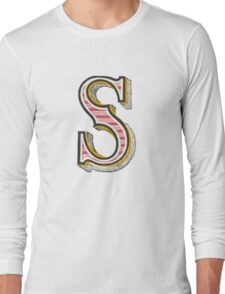 Alphabet letter S Long Sleeve T-Shirt